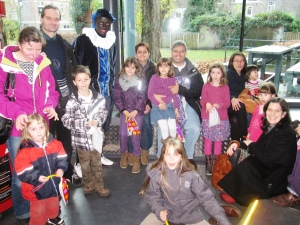 Our huge TICKids group with Zwarte Piet!