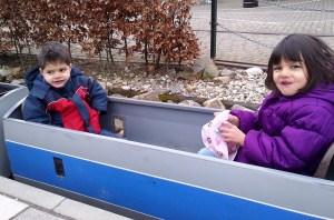 The popular mini-train ride!