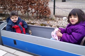 The popular mini-train ride!