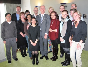 TIC members with the Mayor of Tilburg