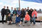 group photo on deck, but minus 3 guests who were in the gift shop!